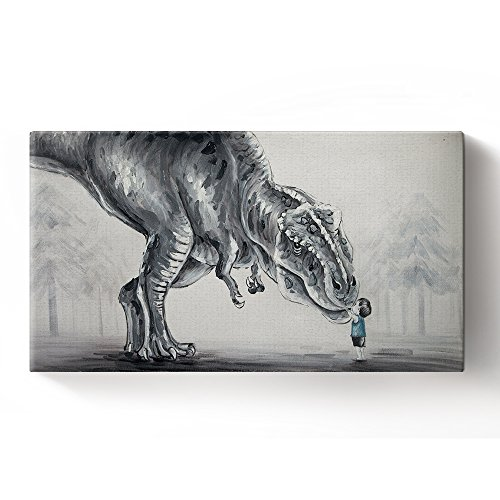 Dinosaur Art Print Watercolor Painting Art Print for Kids Children's Wall Art Wall Decor Art Home Decor Wall Hanging 8x16inch - Art Dinosaur
