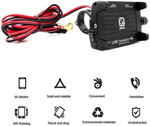 Lergo Metall Motorradlenker Handyhalterung Mit Usb Ladegerät Für Smartphone 2 Sport Freizeit