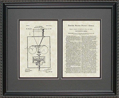 Movie Camera Patent Art Wall Hanging | Director Filmmaker Framed Print 16x20 by PatentsAsArt