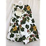Cynthia Rowley Winter Holiday Kitchen Towel Set (Holly with Bells)