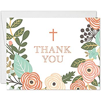 Amazon Com Whimsical Boy Girl Baptism Thank You Cards With