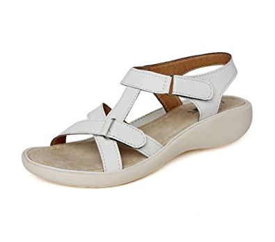 b5b58d468 Vendoz Women White Sandals - 42 EU  Buy Online at Low Prices in ...