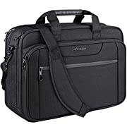 KROSER Laptop Bag Expandable Laptop Briefcase Fits Up to 17.3 Inch Laptop Water-Repellent Shoulder Messenger Bag…