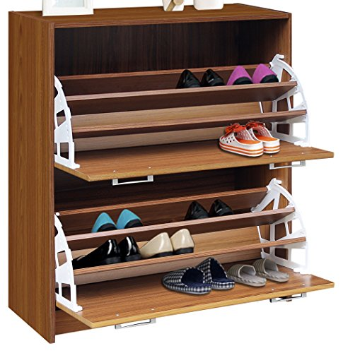 4D Concepts Deluxe Double Shoe Cabinet, Oak