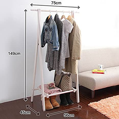 Amazon.com: Creative perchero piso madera percha de ropa ...