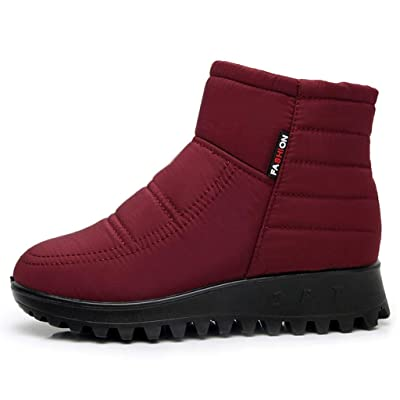 labato Ankle Snow Boots Women Waterproof, Warm Winter Boots Faux Fur Outdoor Shoes Anti-Slip | Snow Boots