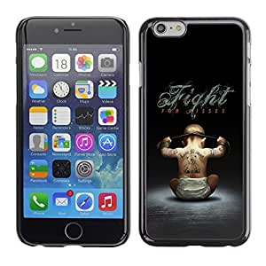 LECELL -- Funda protectora / Cubierta / Piel For Apple iPhone 6 -- Fight For Kisses Funny --