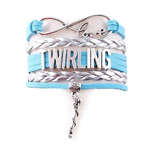 Infinity Love Baton Twirling Bracelet (Silver-Sky) - Twirling Jewelry - Baton Twirler Gift - Twirling Gift - Majorette Jewelry - Majorette Gift … by Bestchoice
