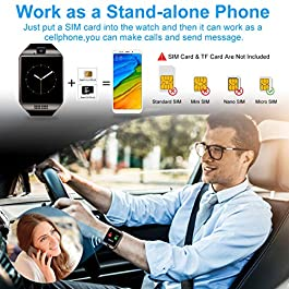 Smart Watch,Smart watch for Android Phones, Smart Watches with Camera Bluetooth Watch with SIM Card Slot Watch Cell…