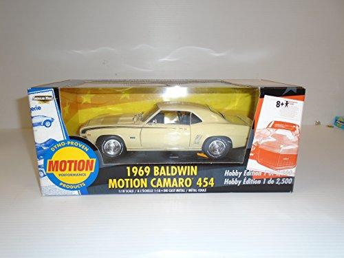 Camaro Motion Baldwin 1969 (American Muscle 1/18 scale 1969 Baldwin Motion Camaro 454 Hobby Edition 1 of 2500 die cast metal)