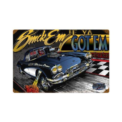 r Corvette Metal Sign Wall Decor 18 x 12 ()
