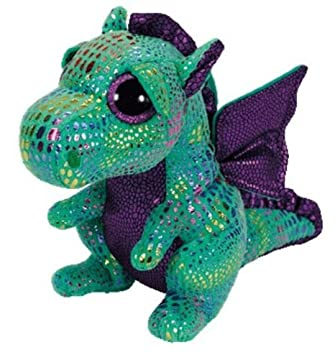 2b79cd38e26 Amazon.com  New Original TY Beanie Boos Cinder Green Dragon Big Eye Plush  Toys 15CM Kids Stuffed Animals Toys For Children Gifts  Baby