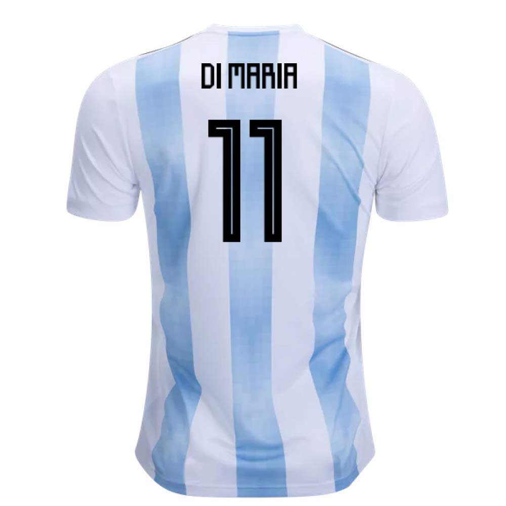 2018-19 Argentina Home Football Soccer T-Shirt Trikot (Angel Di Maria 11)