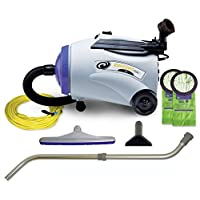 ProTeam Commercial Canister Vacuum Cleaner, RunningVac Canister Vacuum Cleaner with Xover Multi-Surface Telescoping Wand Tool Kit, 10 Quart, Corded