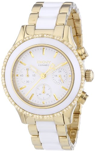 Dkny Ladies White Ceramic - DKNY Westside White Dial Stainless Steel and Ceramic Ladies Watch NY8830