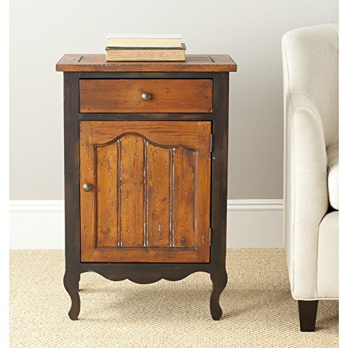 - Safavieh American Homes Collection Southwick Rustic Black and Walnut Cabinet