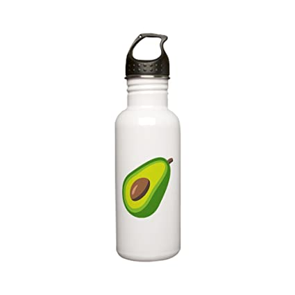 8c60d2622a Image Unavailable. Image not available for. Color: CafePress Avocado Emoji  Stainless Water Bottle ...