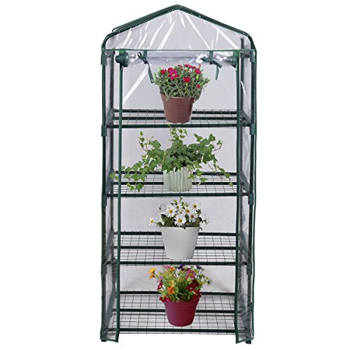 Mini Portable Outdoor 4 Shelves Green House Perfect for Plants Protection and Growth (Kalashnikova Patch)