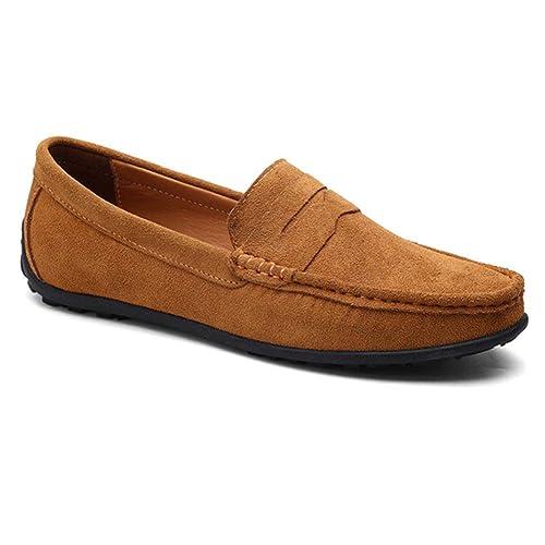 Daytwork Zapatos para Hombre Náuticos - Mocasines Ligero Confortable Suela Blanda Cuero Casual Zapatos de Trabajo Conducir: Amazon.es: Zapatos y ...