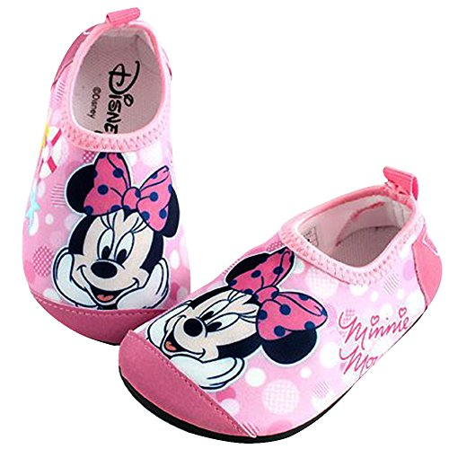 Joah Store Minnie Mouse Water Shoes for Girls Pink Aqua Socks Anti-Slip Quick Dry Lightweight Runs Small (9.5 M US Toddler, Minnie Mouse_B) ()