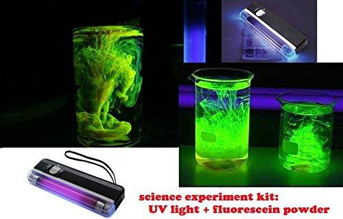 kit 2g de fluorescéine + lampe ultra violet UV lumiere noire detection de fuite piscine plomberie