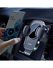 Auckly 15 W snelle draadloze oplader auto mobiele telefoonhouder met laadfunctie automatische inductie motor werking Qi laadstation auto mobiele telefoon houder auto ventilatie voor iPhone Samsung Huawei LG etc