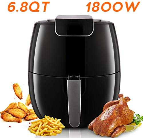 Unermo Electric Air Fryer 6.8-QT 1800W Digital Air Fryer with LED Touch Digital Screen Pot, 2-Year Warranty