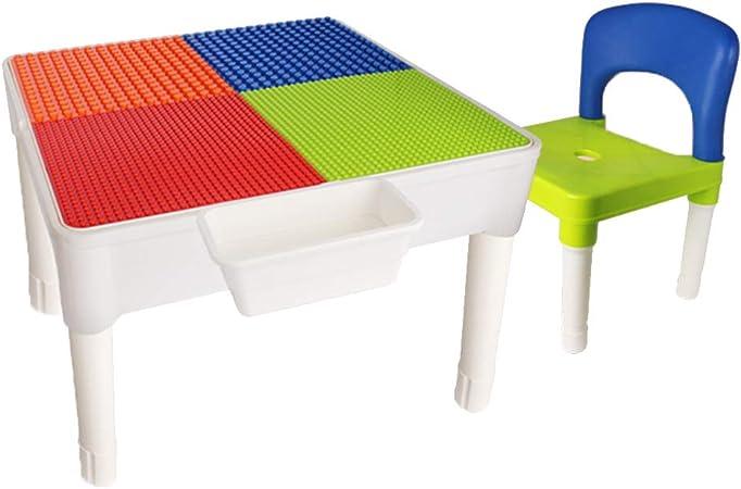 Juegos de mesas y sillas Juego de Mesa y Silla para niños Bloques de construcción multifuncionales Juguetes Mesas y sillas Inicio Mesas y sillas de educación temprana Tablas: Amazon.es: Hogar