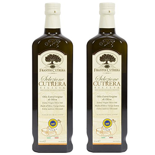 (Frantoi Cutrera Selezione Cutrera Extra Virgin Olive Oil- Cold Extracted, Made in Sicily - 24.5 Ounces - Pack of 2)
