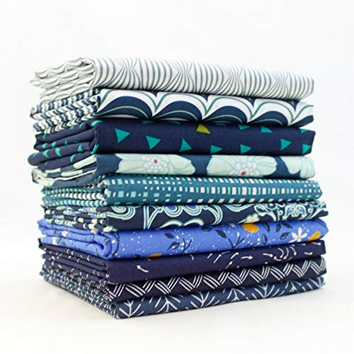 Dark Blue Fat Quarter Bundle (DK.BL.10FQ) by Mixed Designers for Southern ()