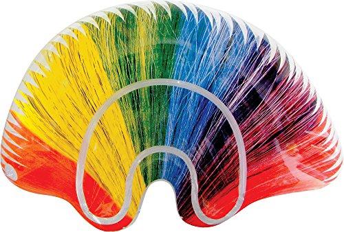 Sureshot Redemption Inflatable Rainbow Mohawk Wig ()
