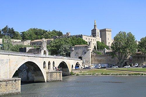 Avignon Four - Home Comforts LAMINATED POSTER Avignon River France Rhone Provence Pont D'avignon Poster 24x16 Adhesive Decal