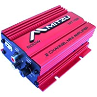 Mitzu Mit-75r 2 Channel 500 Watt Car and Motorcycle Audio Amplifier
