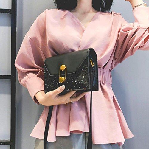 Donna Stile Borsa Neri Di Spalla Catena Lunghi Borse Pelle In Pochette Con Design Del Zq180