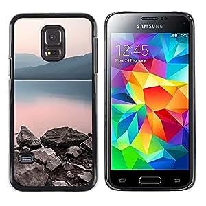 TopCaseStore / la caja del caucho duro de la cubierta de protección de la piel - Nature Calm Lake - Samsung Galaxy S5 Mini, SM-G800, NOT S5 REGULAR!