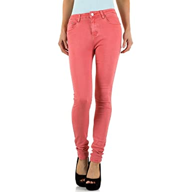 Ital-Design Destroyed Cropped Skinny Jeans Für Damen  Amazon.de ... 6ad1b9ee47