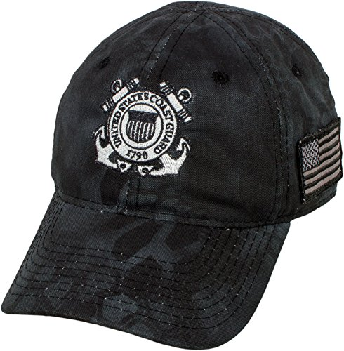 Military Shirts U.S. Coast Guard Emblem Kryptek Camo Cap Guard Emblem