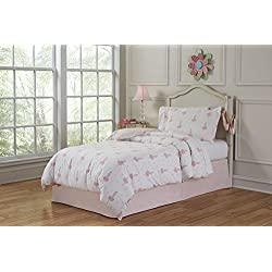 Lullaby Bedding TCO-Brina 3 Piece Ballerina Cotton Printed Comforter Set, Twin