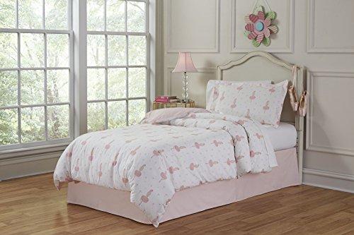 (Lullaby Bedding 200-TTBrina Ballerina Twin Cotton Printed Duvet Set, Twin/Twin XL )