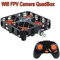 Crazepony Micro Quadcopter Box with Wifi FPV Camera 2.4Ghz 6-Axis Gyro 4CH Super Mini RC Drone Altitude Hold Headless Mode