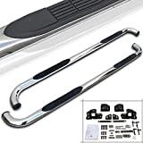 "Spec-D Tuning SSB3-F15009CCS2-WB F-150 Supercrew Crew Cab 3"" Running Board Side Step Nerf Bars Chrome S/S"