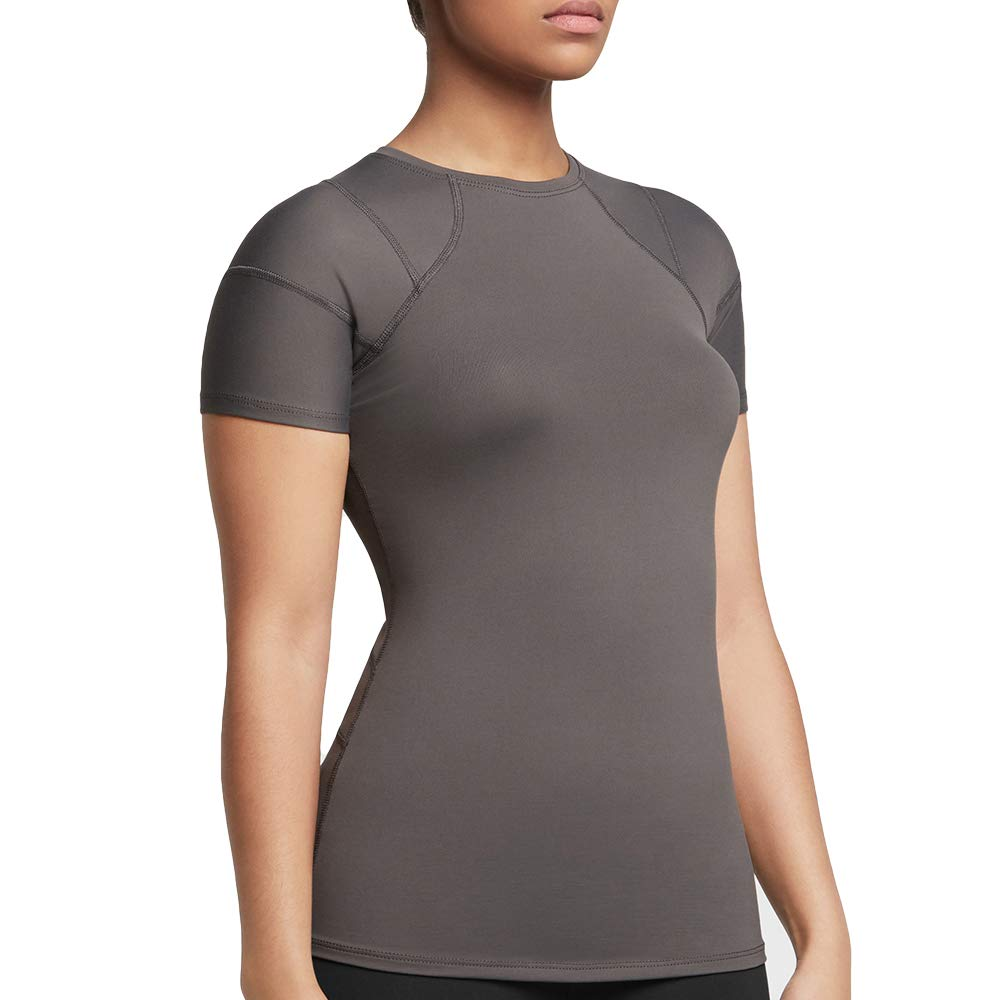 Tommie Copper Women's Pro-Grade Shoulder Centric Support Shirt, Slate Grey, Small