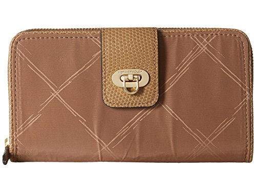 Vera Bradley Preppy Poly Wallet Toast One Size