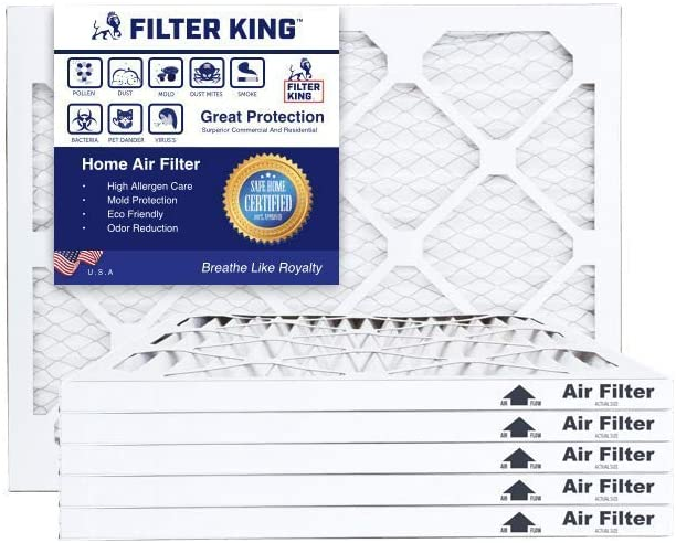 Increases Air Quality Filter King 17.25x23.25x1 Air Filters Protection Against Mold and Pollen MERV 13 HVAC Pleated AC Furnace Filters 12 Pack Allergen Reduction Actual Size