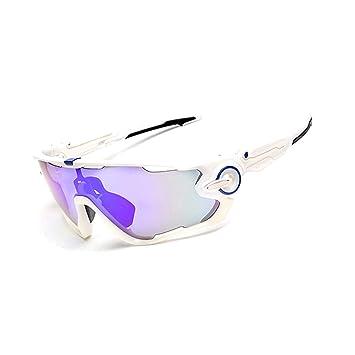 Blisfille Gafas de Esquiar Hombre Gafas para Soldador,Blanco Azul Nail: Amazon.es: Deportes y aire libre