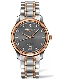 Longines Men's Two Tone Steel Bracelet Steel Case Automatic Grey Dial Analog Watch L26285077