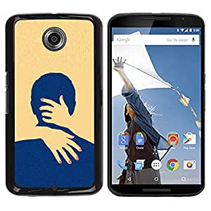 For Motorola NEXUS 6 / Moto X / Moto X Pro , S-type® Yellow Love Minimalist Clean - Arte & diseño plástico duro Fundas Cover Cubre Hard Case Cover