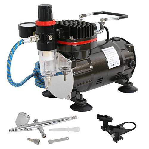 F2C TC-802K Portable Air Compressor Dual-Action Single Cy...