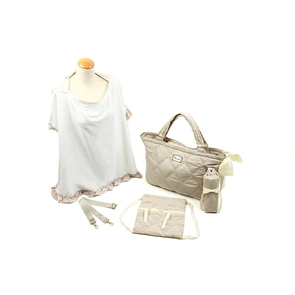 Thea Thea Sara Diaper Bag in Ivory by Thea Thea Baby Bags B00K0MAYZ4