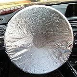Cubierta del Volante Universal Fit UV Proof Sun Shade - Plateado